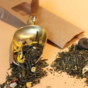 Grüner Tee aromatisiert, Die 8 Schätze des Shaolin | Hautbild