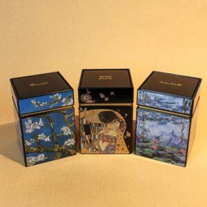 Teedosen mit Motiven von Künstlern